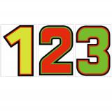 サンドイッチ合板 (SK) 製 プライスボード用数字 SK−23 10枚セット