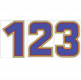 サンドイッチ合板 (SK) 製 プライスボード用数字 SK−43 10枚セット