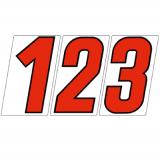 サンドイッチ合板 (SK) 製 プライスボード用数字 SK−73 10枚セット <br> ※こちらの商品は受注生産品です。1週間以内に出荷いたします
