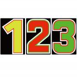 サンドイッチ合板 (SK) 製 プライスボード用数字 SK−20 10枚セット