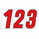 サンドイッチ合板 (SK) 製 プライスボード用数字 SK−72 73 10枚セット <br> ※こちらの商品は受注生産品です。1週間以内に出荷いたします