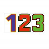 サンドイッチ合板 (SK) 製 プライスボード用 数字 SK−25 10枚セット