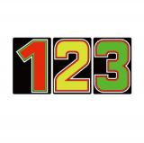 サンドイッチ合板 (SK) 製 プライスボード用数字 SK−27 10枚セット