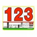 10枚セット SK製 (サンドイッチ合板) プライスボード スライド金具付き SK−15