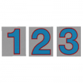 サンドイッチ合板 (SK) 製 プライスボード用数字 SK−29 10枚セット