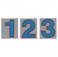 サンドイッチ合板 (SK) 製 プライスボード用数字 SK−48 10枚セット