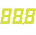 スチール製 プライスボード用数字 AS−10 10枚セット