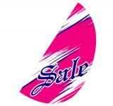 リーフフラッグ 2(SALE)用旗のみ ピンク/紺 LF−12
