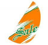 リーフフラッグ 2(SALE)用旗のみ オレンジ/グリーン LF−14
