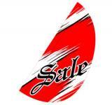 リーフフラッグ 2(SALE)用旗のみ レッド/黒 LF−15