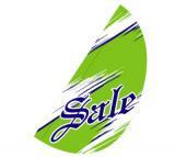 リーフフラッグ 2(SALE)用旗のみグリーン/紺 LF−16