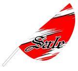 リーフフラッグ 2(SALE)旗ポールセット レッド/黒 LF−15