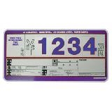 10枚セット 輸入車用 SK製 (サンドイッチ合板) プライスボード スタンド付き SK−48