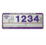 5枚セット 輸入車用 SK製 (サンドイッチ合板) プライスボード スタンド付き SK−29