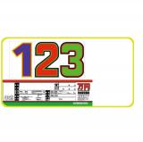 5枚セット 軽自動車用 サンドイッチ合板製 プライスボード スライド金具付き SK−26
