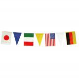 連続旗 万国旗三角入(21枚付)12本セット 送料無料