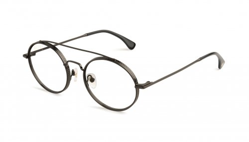<img class='new_mark_img1' src='https://img.shop-pro.jp/img/new/icons5.gif' style='border:none;display:inline;margin:0px;padding:0px;width:auto;' />9five 50-50 Gunmetal Clear Lens Glasses フィフティーフィフティー / ガンメタル / クリアーレンズ / ナインファイブ