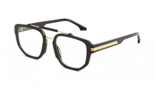 <img class='new_mark_img1' src='https://img.shop-pro.jp/img/new/icons47.gif' style='border:none;display:inline;margin:0px;padding:0px;width:auto;' />9five LAWRENCE Black & 24k Gold CLEAR LENS GLASSES ローレンス / ブラック&24Kゴールド / クリアレンズ / ナインファイブ