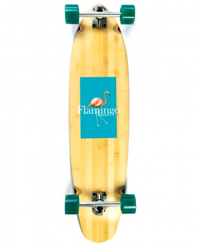 <img class='new_mark_img1' src='https://img.shop-pro.jp/img/new/icons5.gif' style='border:none;display:inline;margin:0px;padding:0px;width:auto;' />FLAMINGO LONG BOARD COMPLETE - 9.38 x 37  フラミンゴ / ロングボード / スケートボード / スケボー/クルージング
