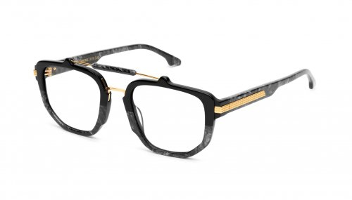 <img class='new_mark_img1' src='https://img.shop-pro.jp/img/new/icons5.gif' style='border:none;display:inline;margin:0px;padding:0px;width:auto;' />9five LAWRENCE Black Marble & 24k Gold Clear Lens Glasses ローレンス / ブラックマーブル&24Kゴールド / クリア / ナインファイブ