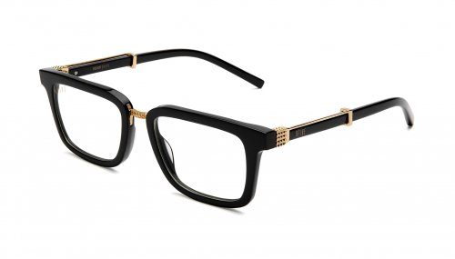 <img class='new_mark_img1' src='https://img.shop-pro.jp/img/new/icons5.gif' style='border:none;display:inline;margin:0px;padding:0px;width:auto;' />9five BISHOP Black & 24k Gold Clear Lens Glasses ビショップ / ブラック&24Kゴールド / クリアレンズ / ナインファイブ