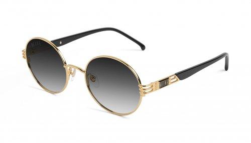 <img class='new_mark_img1' src='https://img.shop-pro.jp/img/new/icons5.gif' style='border:none;display:inline;margin:0px;padding:0px;width:auto;' />9five IRIS Black & 24k Gold Gradient Sunglasses アイリス / ブラック&24Kゴールド / グラデーションサングラス / ナインファイブ