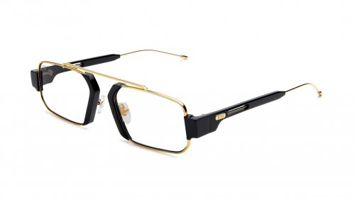 <img class='new_mark_img1' src='https://img.shop-pro.jp/img/new/icons47.gif' style='border:none;display:inline;margin:0px;padding:0px;width:auto;' />9five LOGAN Black & 24k Gold Clear Lens Glasses ローガン / ブラック&24Kゴールド / クリアレンズ / ナインファイブ