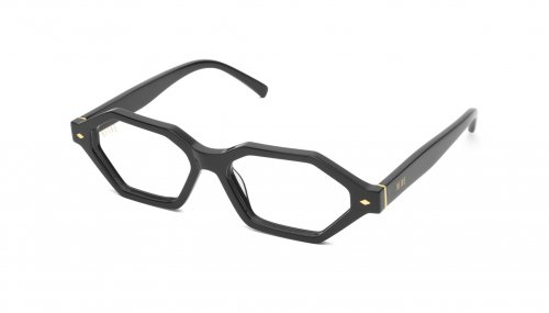 <img class='new_mark_img1' src='https://img.shop-pro.jp/img/new/icons5.gif' style='border:none;display:inline;margin:0px;padding:0px;width:auto;' />9five DOCKS Black & 24k Gold Clear Lens Glasses ドックス / ブラック&24Kゴールド / クリアレンズ / ナインファイブ