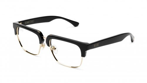 <img class='new_mark_img1' src='https://img.shop-pro.jp/img/new/icons5.gif' style='border:none;display:inline;margin:0px;padding:0px;width:auto;' />9five Belmont Black & 24K Gold Clear Lens Glasses ベルモント / ブラック&24Kゴールド / クリアーレンズ / ナインファイブ