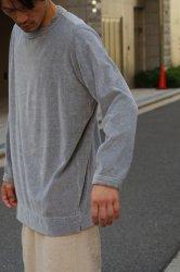 FIRMUM コットンヘビーニットベロアトップ【Light Grey Top】