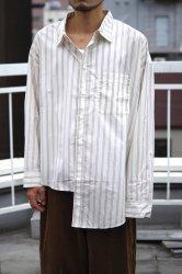 RICE NINE TEN APART LENGTH SHIRT【Grey Stripe】
