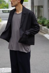 NO CONTROL AIR ライトポリエステルラフツイルショートジャケット【Black】