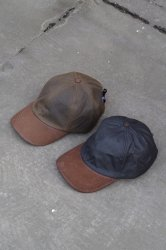 TWEEDMILL BASEBALL CAP WAXED WITH LEATHER