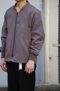 LAMOND【ラモンド】 OVER BLOUSON【MAROON GRAY】
