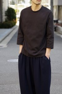 LAMOND【ラモンド】 BASQUE 7部袖T-SHIRT 【BLACK】