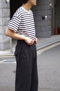 LAMOND【ラモンド】 SUVIN GOLD BORDER T-SHIRT