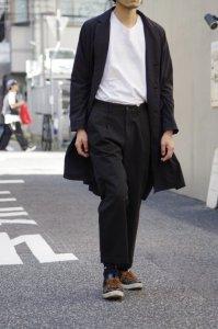 RICCARDO METHA【リカルドメッサ】 DRAGON TWILL 1TUCK WIDE PANTS【BLACK】