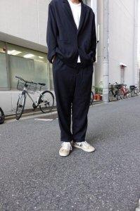 LAMOND【ラモンド】 KERSEY STRECH WIDE PANTS【BLACK】
