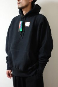 CAMBER【キャンバー】 CROSS KNIT PULLOVER HOODED【BLACK】