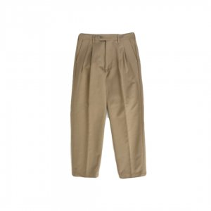 LAMOND【ラモンド】 DOUBLE WEAVE WIDE TAPERED TROUSERS