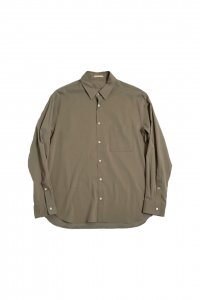 LAMOND【ラモンド】 COMFORTABLE BACK SATIN SHIRT【KHAKI GRAY】
