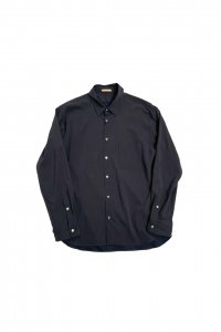 LAMOND【ラモンド】 COMFORTABLE BACK SATIN SHIRT【DARK NAVY】