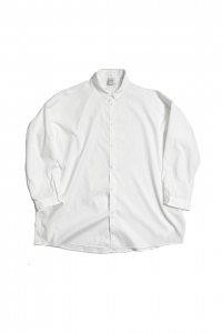 NO CONTROL AIR【ノーコントロールエアー】 マットポリエステルタイプライターワイドシャツ【OFF WHITE】