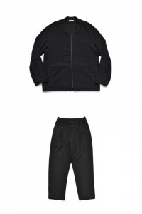 【セットアップ】LAMOND【ラモンド】 LOUNGE SUEDE BLOUSON &PANTS【BLACK】