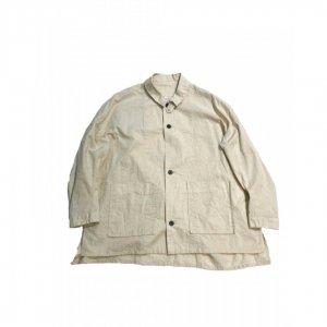 FIRMUM【フィルマム】綿麻シーチングワイドシャツジャケット【NATURAL】