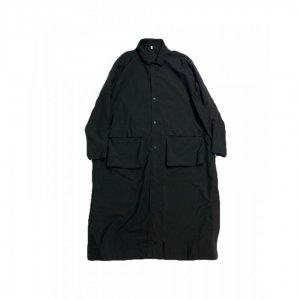 FIRMUM【フィルマム】ナイロンタッサーステンカラーコート【BLACK】