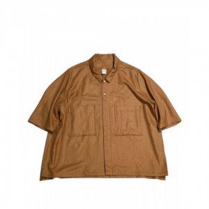 NO CONTROL AIR【ノーコントロールエアー】 リネンライクチンツブッチャーs/sシャツ【ORANGE】