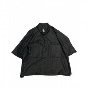 NO CONTROL AIR【ノーコントロールエアー】 リネンライクチンツブッチャーs/sシャツ【BLACK】