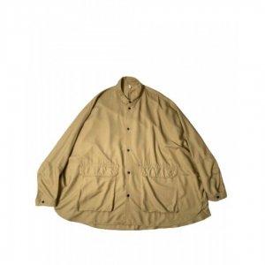 FIRMUM【フィルマム】セミグロスレーヨンバックサテン変形シャツジャケット【CHINO BEIGE】