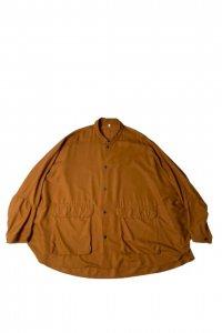 FIRMUM【フィルマム】セミグロスレーヨンバックサテン変形シャツジャケット【BURNT ORANGE】